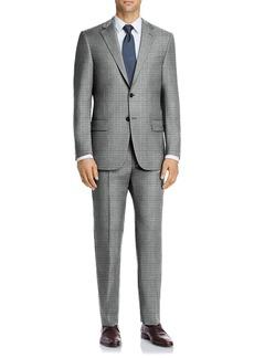 Hart Schaffner Marx Grey Windowpane Two Button Notch Lapel New York Fit Suit