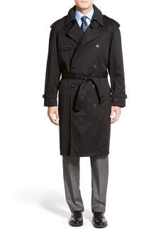 Hart Schaffner Marx Barrington Classic Fit Cotton Blend Trench Coat