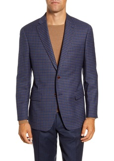 Hart Schaffner Marx Classic Fit Check Stretch Wool Sport Coat