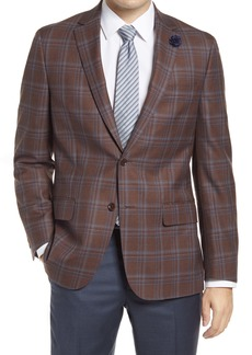 Hart Schaffner Marx Classic Fit Deco Plaid Wool Sport Coat