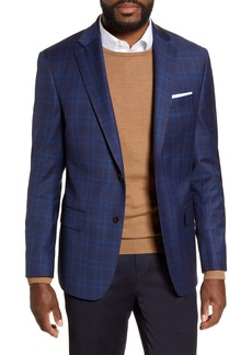 Hart Schaffner Marx Classic Fit Plaid Stretch Wool Sport Coat