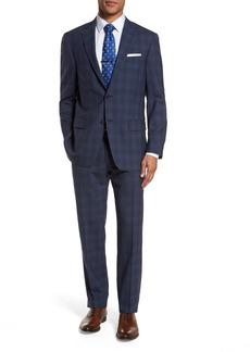 Hart Schaffner Marx Classic Fit Plaid Wool Suit