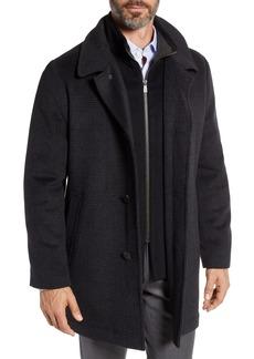 Hart Schaffner Marx MacBeth Wool Blend Car Coat with Bib