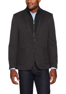 Hart Schaffner Marx Men's Broderick Technical Jacket Detachable Knit Bib  S