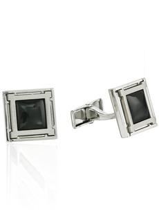 Hart Schaffner Marx Men's Cufflinks Accessory -Gunmetal plated with black One size