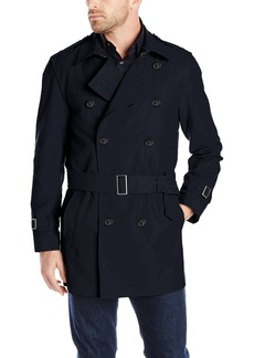Hart Schaffner Marx Men's Horner Short Trench Raincoat