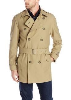 Hart Schaffner Marx Men's Horner Short Trench Raincoat   Regular