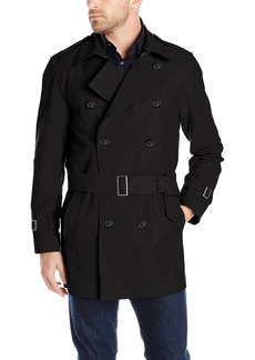 Hart Schaffner Marx Men's Horner Short Trench Raincoat   Regular