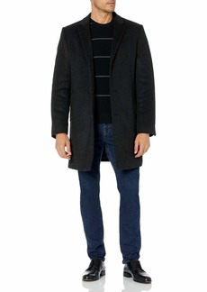 Hart Schaffner Marx Men's Kingman Herringbone Wool-Blend Coat with Detachable Bib  R