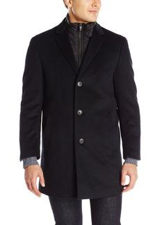 Hart Schaffner Marx Men's Kingman Herringbone Wool Coat with Zip-Out Bib   Regular