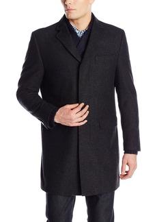 Hart Schaffner Marx Men's Maitland Fly-Front Slim Fit Wool Coat