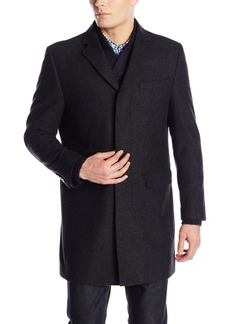 Hart Schaffner Marx Men's Maitland Fly-Front Slim Fit Wool Coat