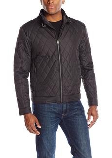 Hart Schaffner Marx Men's Marlon-Quilted Moto Jacket