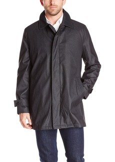 Hart Schaffner Marx Men's Mercury Rain Jacket with Zip Out Liner and Leather Trim