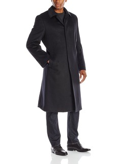 Hart Schaffner Marx Men's Stanley Fly-Front Cashmere-Blend Coat   Regular