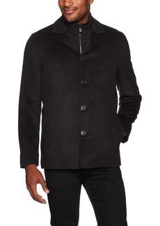 Hart Schaffner Marx Men's Triple Play 3-in-1 Wool Jacket with Vest  L