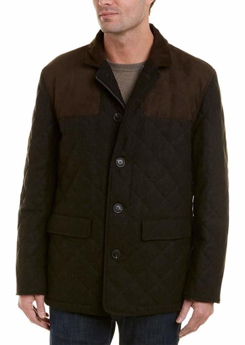 Hart Schaffner Marx Men's Wool Blend Quilted Jacket