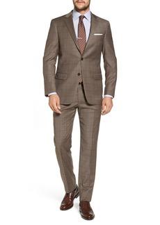 Hart Schaffner Marx New York Classic Fit Stretch Windowpane Wool Suit