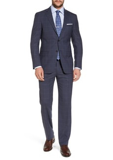 Hart Schaffner Marx New York Classic Fit Windowpane Wool Suit