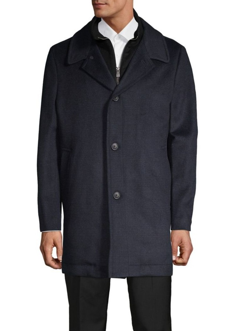 Hart Schaffner Marx Plaid Wool-Blend Car Coat