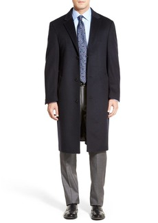 Hart Schaffner Marx Sheffield Classic Fit Wool & Cashmere Overcoat