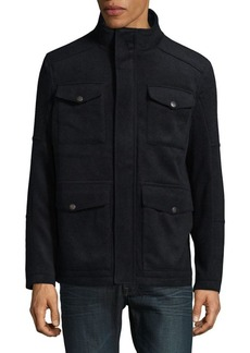 Hart Schaffner Marx Wool-Blend Four-Pocket Field Jacket
