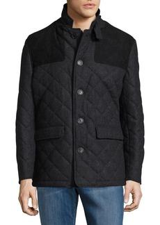 Hart Schaffner Marx Wool-Blend Quilted Coat