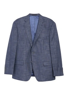 Hart Schaffner Marx Medium Blue Solid Two Button Notch Lapel New York Fit Sport Coat