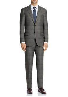 Hart Schaffner Marx Medium Grey Plaid Two Button Notch Lapel New York Fit Suit