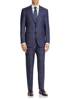 Hart Schaffner Marx Navy Stripe Two Button Notch Lapel New York Fit Suit