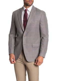 Hart Schaffner Marx New York Classic Fit Windowpane Cotton & Linen Sport Coat