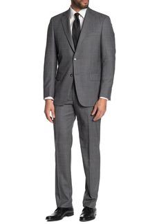 Hart Schaffner Marx Plaid Print New York Fit 2-Piece Suit