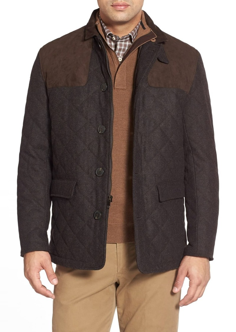 Hart Schaffner Marx Shooter Wool Blend Quilted Jacket