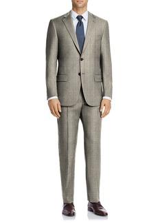 Hart Schaffner Marx Tan Check Plaid Two Button Notch Lapel New York Fit Suit