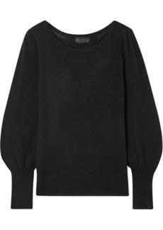 Hatch Woman The Olympia Ribbed Merino Wool Sweater Black