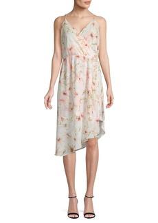 Haute Hippie Asymmetric Floral Dress