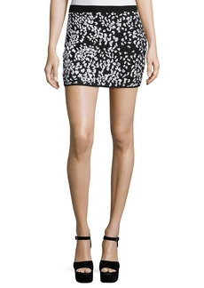 Haute Hippie Embellished Cheetah Mini Skirt