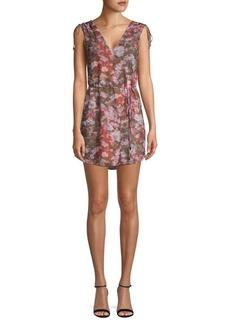 Haute Hippie Floral-Print Mini Dress