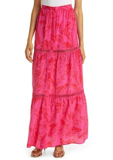 Haute Hippie Haute Hippe Floral Silk Maxi Skirt