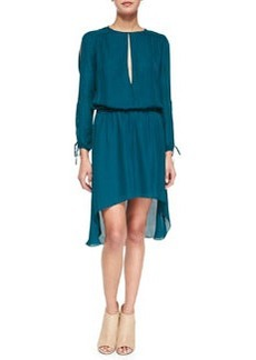 Haute Hippie Long-Sleeve Keyhole-Front Dress