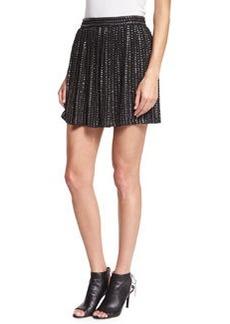 Haute Hippie Leather-Sequin Mini Skirt