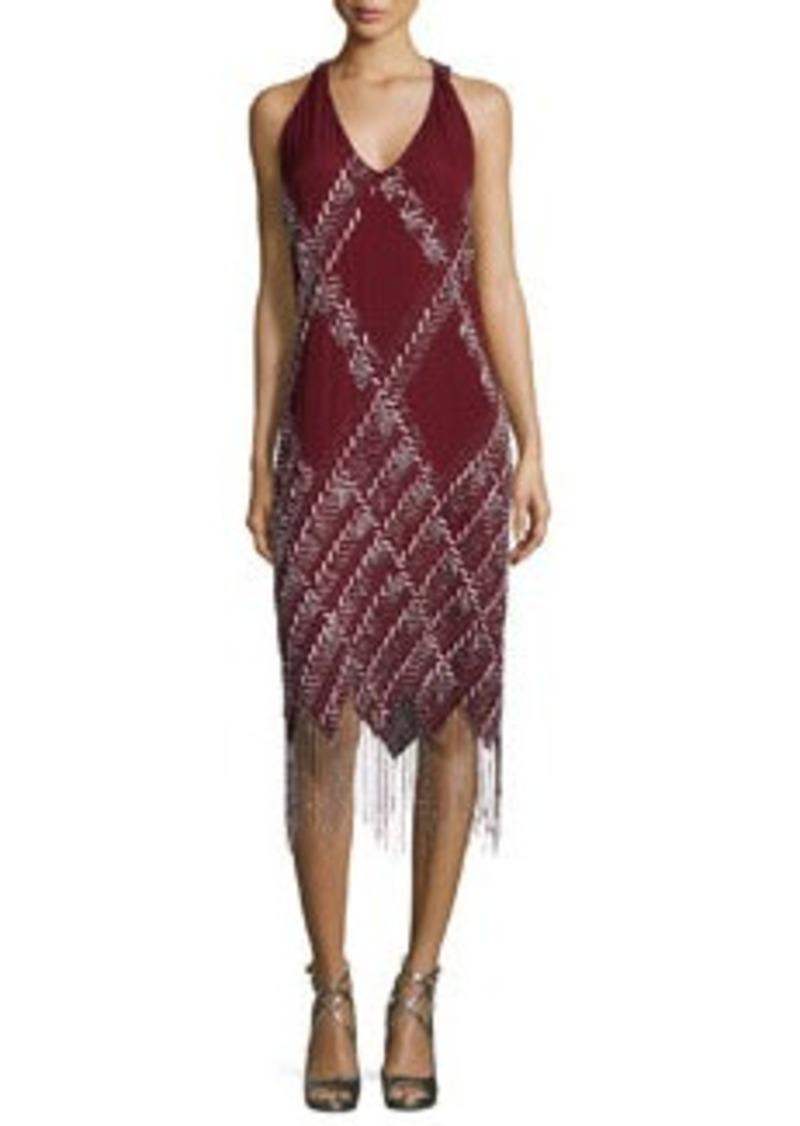 Haute Hippie Sleeveless Embellished-Argyle Dress