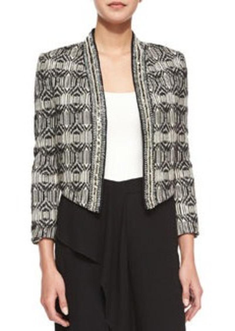 Haute Hippie Tribal-Print Chevron-Embellished Jacket