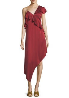 Haute Hippie All You Need Is Love Asymmetric One-Shoulder Dress