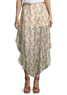 Haute Hippie Anastasia Slayer Pleated Tulip Maxi Skirt