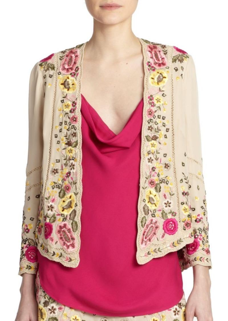 Haute Hippie Beaded & Embroidered Silk Jacket