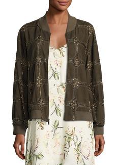 Haute Hippie Believe Embellished Bomber Jacket