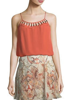 Haute Hippie Brush with The Law Silk Camisole