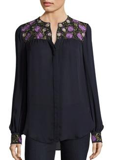 Haute Hippie Button Down Silk Blouse