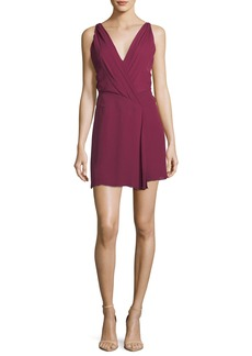 Haute Hippie Cassidy V-Neck Sleeveless Silk Mini Dress